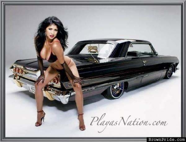 Theme, lowrider cars with girls excited too