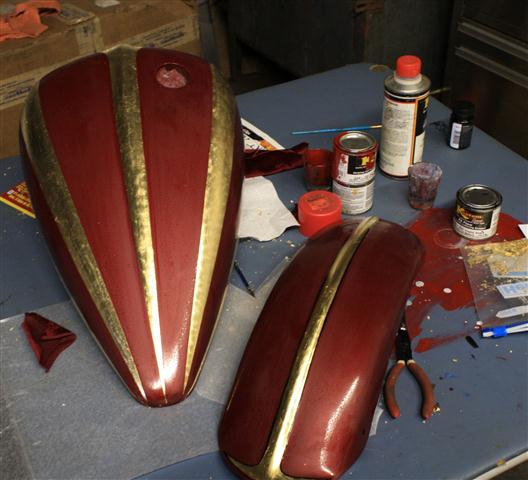 Art Going On At Ssk Gold Leaf Tikis And Pinstriping